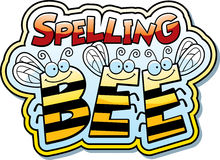 Cartoon Spelling Bee. A cartoon illustration of the word buzz with a bee theme Stock Photo