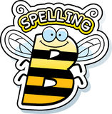 Cartoon Spelling Bee Text. A cartoon illustration of the text Spelling B with a bee theme Royalty Free Stock Images