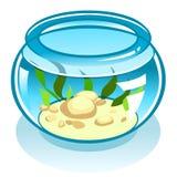Cartoon spherical aquarium Royalty Free Stock Images