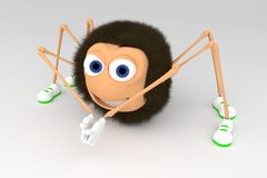 Cartoon spider Royalty Free Stock Image
