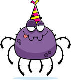 Cartoon Spider Drunk Party Royalty Free Stock Photo