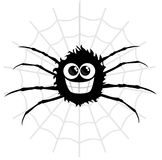 Cartoon spider. On isolated white background Royalty Free Stock Photo