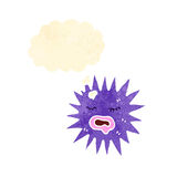 Cartoon spiky sea creature Royalty Free Stock Photos