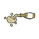 Cartoon spilled beer Stock Photography