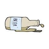 Cartoon spilled beer Stock Photo