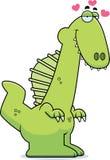 Cartoon Spinosaurus in Love Royalty Free Stock Image