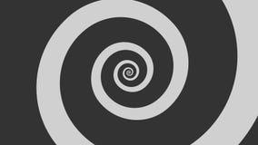 Cartoon spiral spinning in a loop