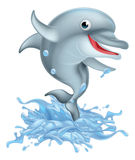 Cartoon Splashing Dolphin Royalty Free Stock Photo