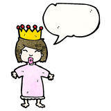 cartoon spoiled little princess Royalty Free Stock Images