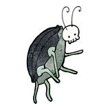 cartoon spooky beetle Royalty Free Stock Images