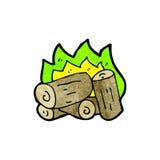 Cartoon spooky campfire Stock Photography