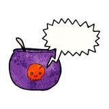 Cartoon spooky cauldron Royalty Free Stock Image