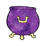 Cartoon spooky cauldron Royalty Free Stock Photo
