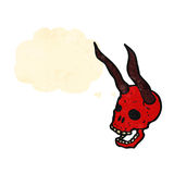 Cartoon spooky devil skull Royalty Free Stock Images