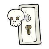 cartoon spooky door knob Stock Image