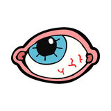 Cartoon spooky eye Stock Images