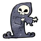 Cartoon spooky ghost. Retro cartoon with texture. Isolated on White Royalty Free Stock Photo