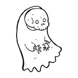 Cartoon spooky ghoul Stock Image