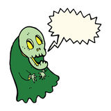 Cartoon spooky ghoul with speech bubble Stock Photography