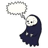 Cartoon spooky ghoul with speech bubble Stock Photos