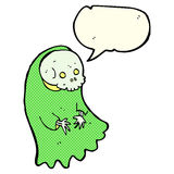 Cartoon spooky ghoul with speech bubble Royalty Free Stock Photos