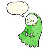 Cartoon spooky ghoul with speech bubble Stock Image