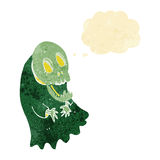 Cartoon spooky ghoul with thought bubble Royalty Free Stock Photo