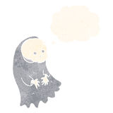 Cartoon spooky ghoul with thought bubble Royalty Free Stock Photos