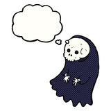 Cartoon spooky ghoul with thought bubble Stock Photo