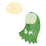 Cartoon spooky ghoul with thought bubble Stock Photos