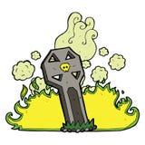 Cartoon spooky grave Royalty Free Stock Photo