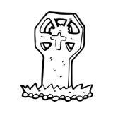 Cartoon spooky grave Stock Photos