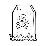 Cartoon spooky grave Stock Image