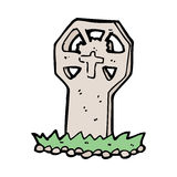 Cartoon spooky grave Royalty Free Stock Photos