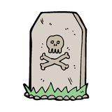 Cartoon spooky grave Royalty Free Stock Images