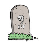 Cartoon spooky grave Stock Photography
