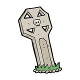 Cartoon spooky grave Stock Image