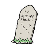 Cartoon spooky grave Stock Images