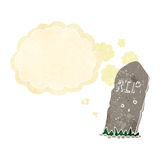 cartoon spooky grave with thought bubble Stock Photo