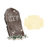 Cartoon spooky grave with thought bubble Royalty Free Stock Photo