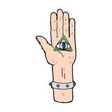 Cartoon spooky hand symbol Royalty Free Stock Photography
