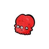 Cartoon spooky mutant skull Stock Photos