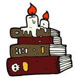 Cartoon spooky old books Stock Photos