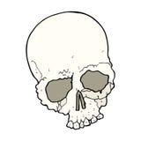 Cartoon spooky old skull Royalty Free Stock Photography