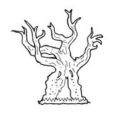 Cartoon spooky old tree Royalty Free Stock Photos