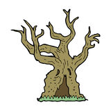 Cartoon spooky old tree Stock Photos