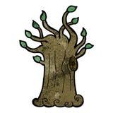 Cartoon spooky old tree Stock Photos