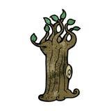Cartoon spooky old tree Royalty Free Stock Photography