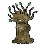Cartoon spooky old tree Royalty Free Stock Photos