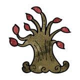 cartoon spooky old tree Stock Photography